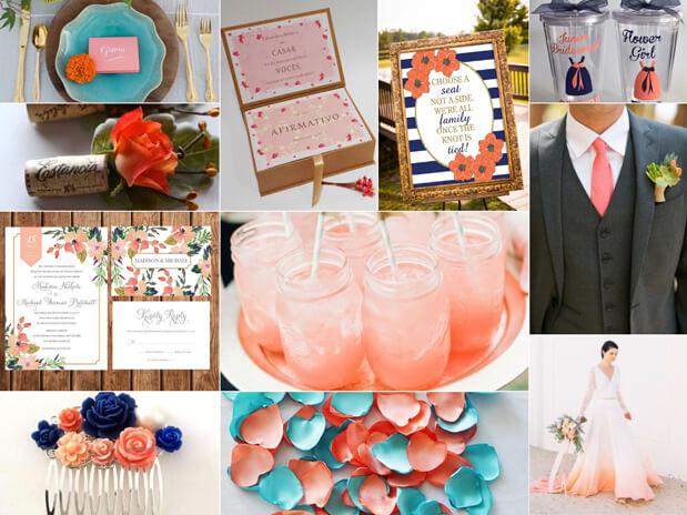 cor do ano 2019 living coral casamento