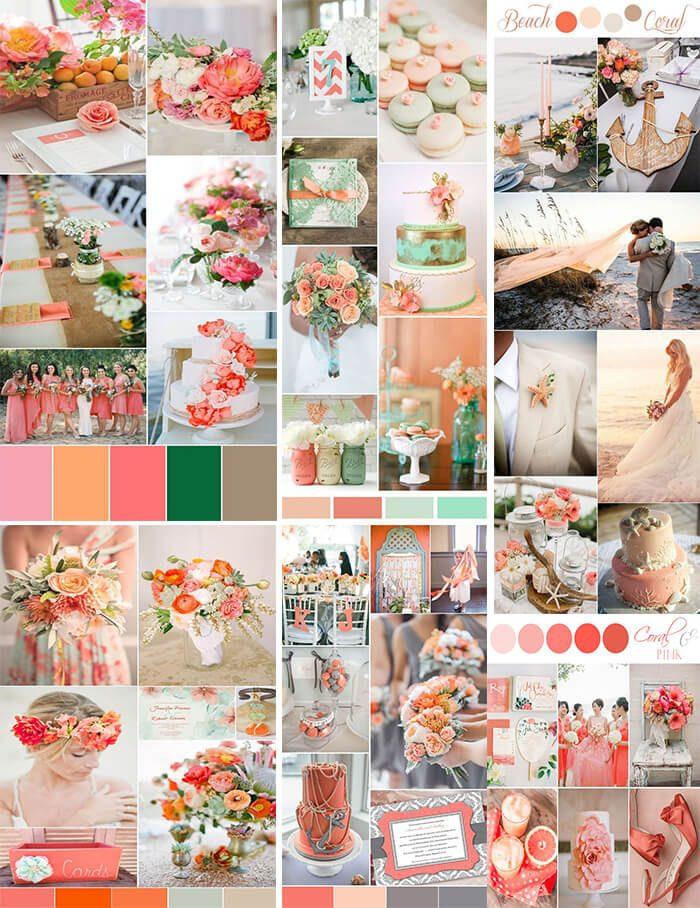 cor do ano 2019 paleta de cores para casamento